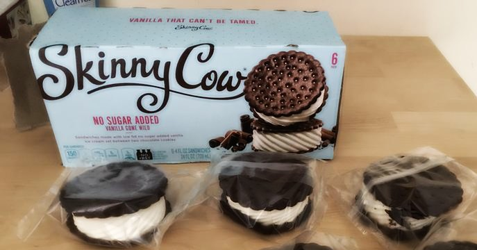 Skinny Cow Ice Cream Sandwhich No Sugar Added